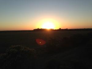 Sonnenuntergang in Colonia Belgrano
